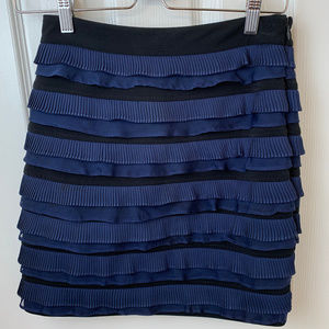 Elizabeth & James Blue & Black Ruffled Skirt. S